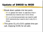 update of dmod to mod1