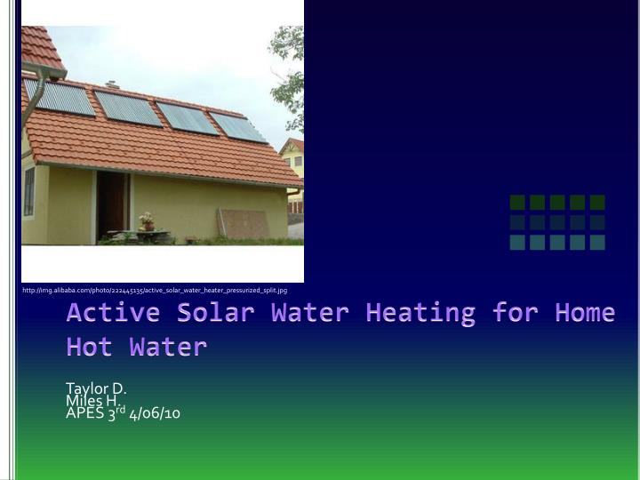 active solar water heating for home hot water n.