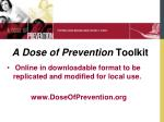 a dose of prevention toolkit