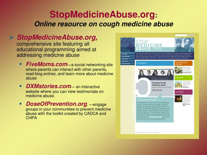 StopMedicineAbuse.org