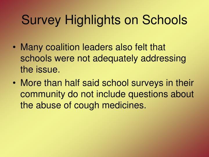 Survey Highlights on Schools