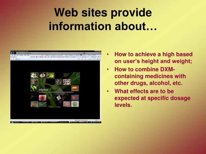 Web sites provide