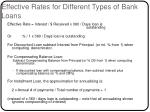 effective rates for different types of bank loans