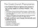 the credit crunch phenomenon