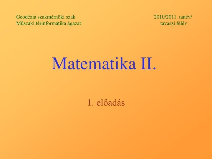matematika ii n.