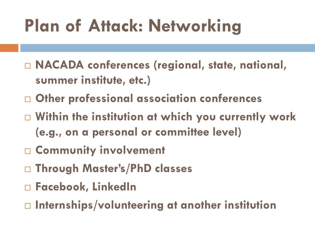 Plan of Attack: Networking