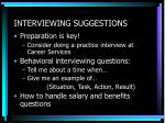 interviewing suggestions