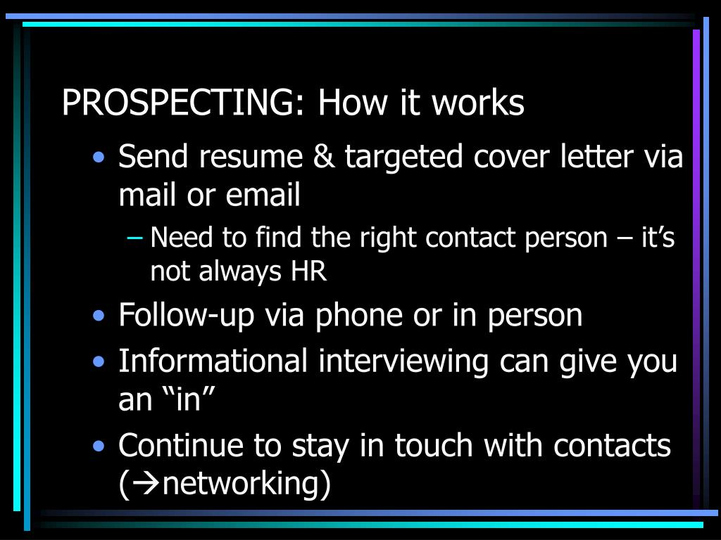 PROSPECTING: How it works