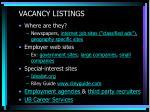 vacancy listings