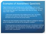 examples of assessment questions