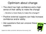 optimism about change