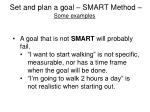 set and plan a goal smart method some examples