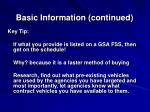 basic information continued1