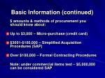 basic information continued2