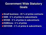 government wide statutory goals