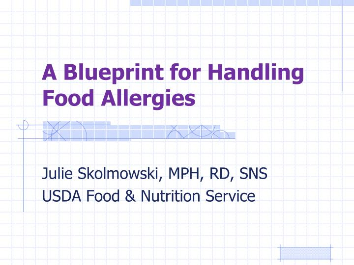 a blueprint for handling food allergies n.