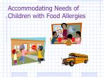 accommodating needs of children with food allergies