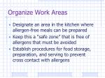 organize work areas