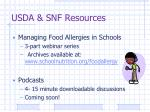 usda snf resources