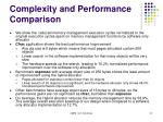 complexity and performance comparison5