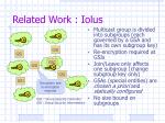 related work iolus