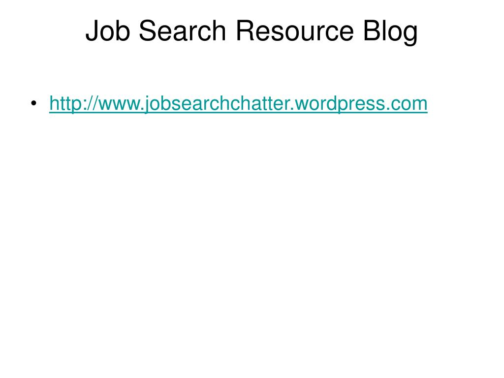 Job Search Resource Blog
