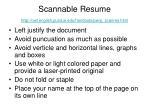 scannable resume http owl english purdue edu handouts pw p scanres html