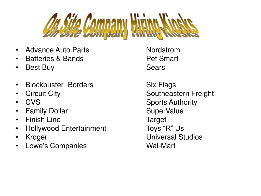 On Site Company Hiring Kiosks
