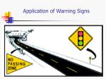 application of warning signs1