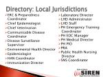directory local jurisdictions