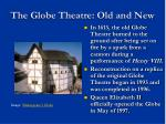 the globe theatre old and new