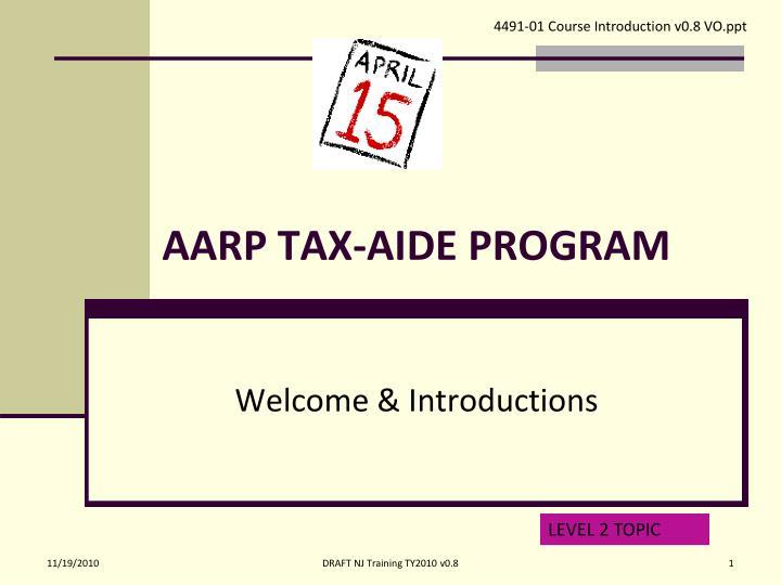 aarp tax aide program n.