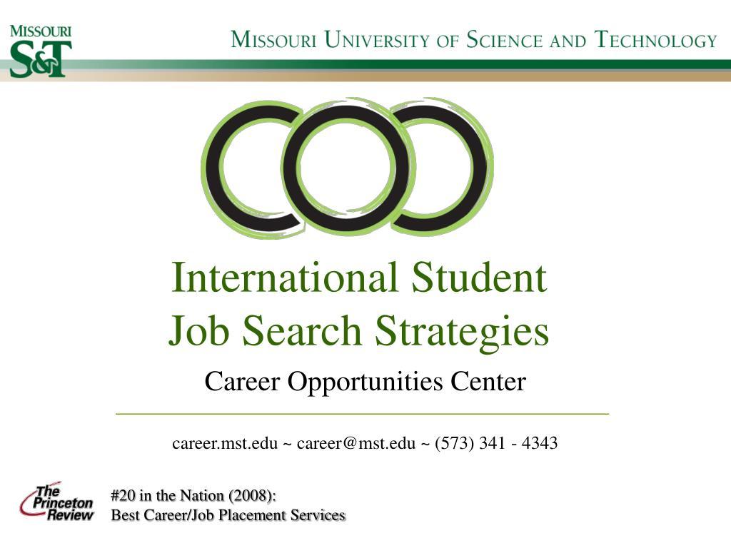 international student job search strategies l.