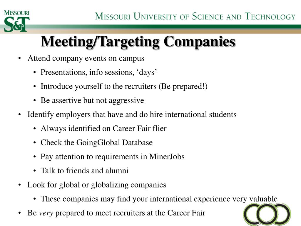 Meeting/Targeting Companies