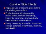 cocaine side effects
