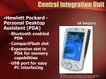 central integration unit
