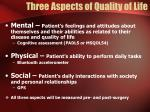 three aspects of quality of life