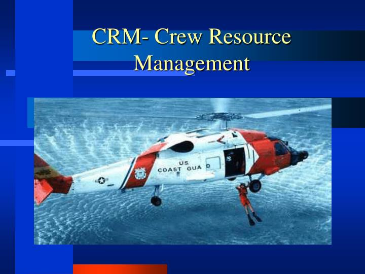crm crew resource management n.