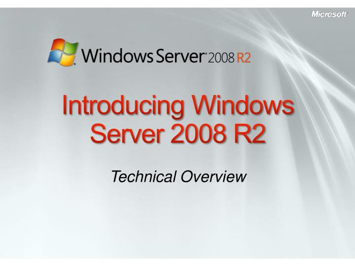 introducing windows server 2008 r2 n.