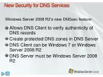 new security for dns services