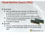 virtual machine queue vmq