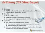 vm chimney tcp offload support