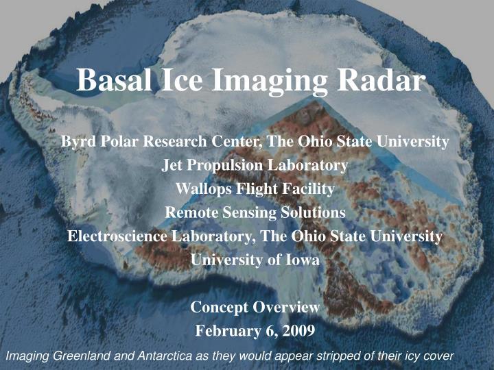 basal ice imaging radar n.