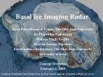 basal ice imaging radar
