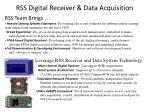 rss digital receiver data acquisition