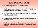 rbi directives