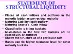 statement of structural liquidity1