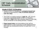 cbt daily administration schedule3