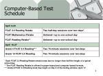 computer based test schedule