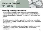 materials needed for testing17